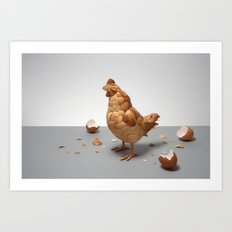 What Came First? Art Print