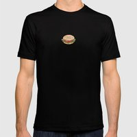 Bagel Sandwich Mens Fitted Tee Black SMALL