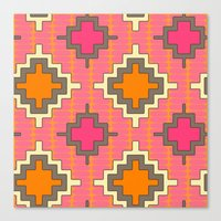 tangerine kilim Canvas Print