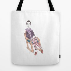 girl in a chair Tote Bag