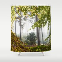 Pine Trees Viewed Throug… Shower Curtain