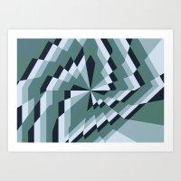 Angled Box Art Print