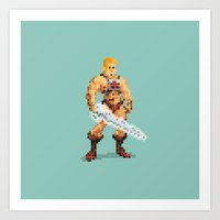By The Power Of 8-Bit Art Print
