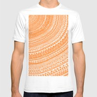 Orange Pulse O3. Mens Fitted Tee White SMALL