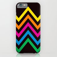 Chevron Sherbet Black iPhone 6 Slim Case