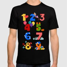 numbers Black Mens Fitted Tee SMALL