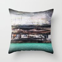 Beauty of the rocks Throw Pillow