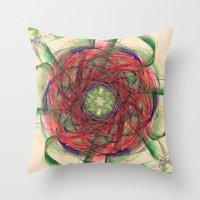 Atomic Nebula Throw Pillow