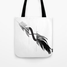 Infinity Feather Tote Bag