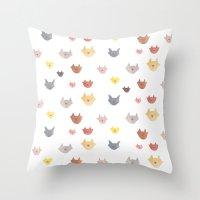 Cat Family For J&K #1 (m… Throw Pillow