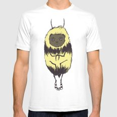 Bee Girl SMALL White Mens Fitted Tee