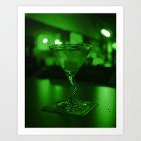 Martini Green Art Print