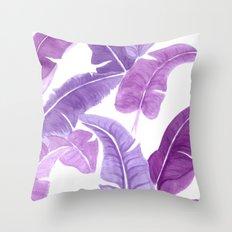 Purple Palms Throw Pillow