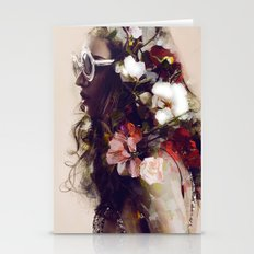 The Girl With The Flower… Stationery Cards