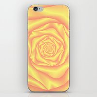 Yellow and Pink Spiral Rose iPhone & iPod Skin