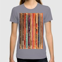 Vinyl Womens Fitted Tee Slate SMALL