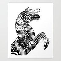 Horse Patterns Art Print