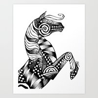 Horse Patterns Art Print