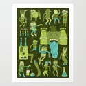 Wow! Frankensteins! Art Print