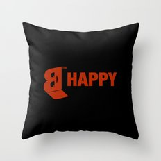B-HAPPY #2 Throw Pillow