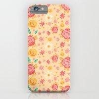 Peach Roses iPhone 6 Slim Case