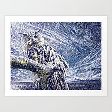 Moonlight and Frost Art Print