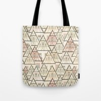 Pattern Houses Tote Bag