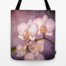 the white orchid - violet texture Tote Bag