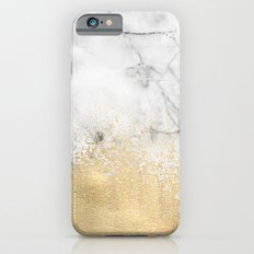 Gold Dust on Marble iPhone 6 Slim Case