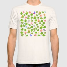 birds&leaves Mens Fitted Tee Natural SMALL