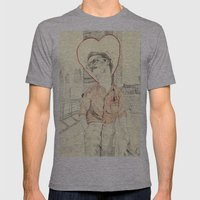 Her Mens Fitted Tee Athletic Grey SMALL