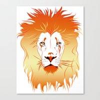 Fire Lion Canvas Print