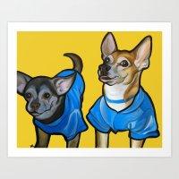Winston And Chloe The Ch… Art Print