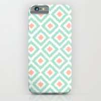 Mint And Coral Diamonds … iPhone 6 Slim Case