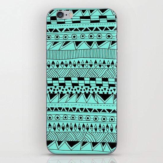 Fun - Black and Mint iPhone & iPod Skin