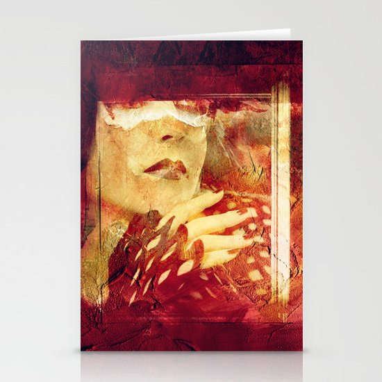 RED PASSION Stationery Card