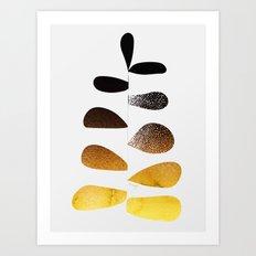 Gold Ombre Plant Art Print