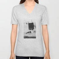 The cat and the pants Unisex V-Neck