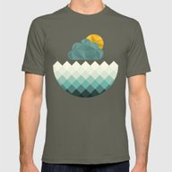 Sea Polygons Mens Fitted Tee Lieutenant SMALL