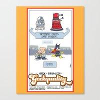 Geek + Equality = GEEKUALITY Canvas Print