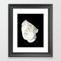A Painted Face Framed Art Print