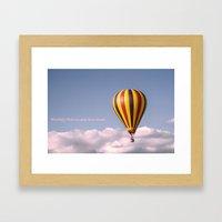 Candy floss clouds Framed Art Print