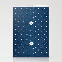 Blue Polka Dot Button Up Stationery Cards