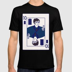 Ten of Tardis Black SMALL Mens Fitted Tee
