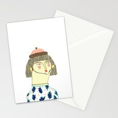 Women. fashion, fashion illustration, fashion print, fashion art, pattern, people,  Stationery Cards