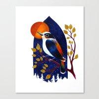 Window Bird Canvas Print