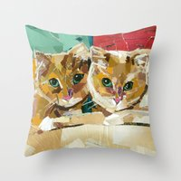 Tony And Jake  Throw Pillow