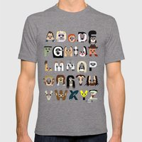 Horror Icon Alphabet Mens Fitted Tee Tri-Grey SMALL
