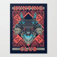 Hunting Club: Abyssal Lagiacrus Canvas Print