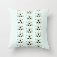Mint Blossoms Throw Pillow